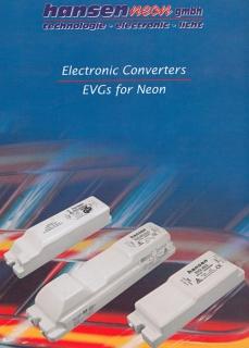 Elektroniczne Transformatory EVG HANSEN -katalog / Neon-Converters EVG HANSEN catalogue
